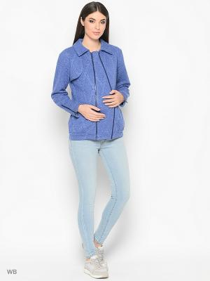 Куртка Trendy Tummy. Цвет: голубой