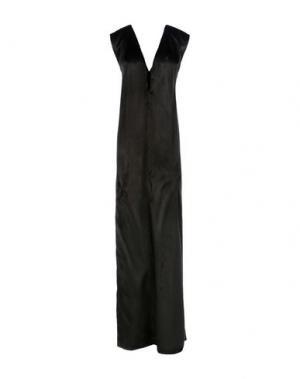 Длинное платье ANN DEMEULEMEESTER. Цвет: черный