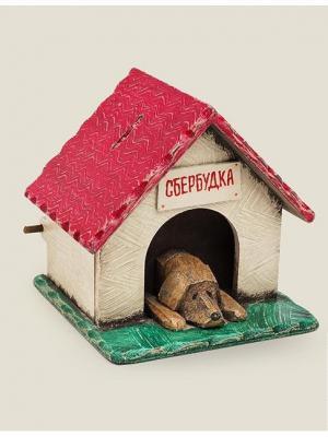 Копилка Сбербудка в Подарочной коробке Бюро находок. Цвет: зеленый, бордовый, коричневый