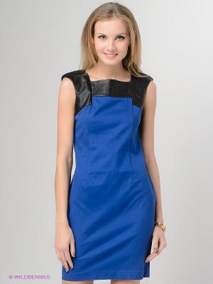 Платье Top Secret. Цвет: синий, черный