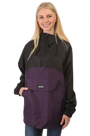 Анорак женский  PC Combo Черный/Фиолетовый Anteater. Цвет: черный,фиолетовый