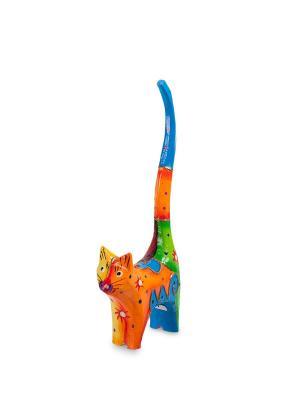 Фигурка Кот (о.Бали) Decor & gift. Цвет: оранжевый, синий