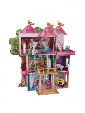 Замок-дом для кукол Книга Сказок KidKraft. Цвет: розовый