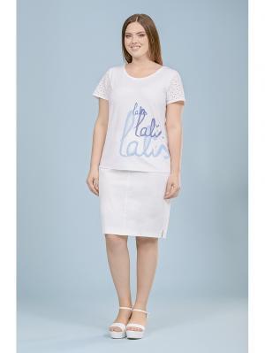 Блузка LALIS. Цвет: белый