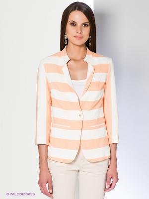 Жакет Acasta. Цвет: персиковый, белый