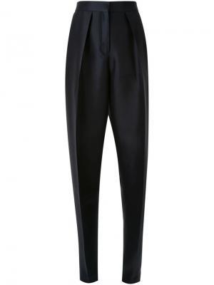 Плиссированные широкие брюки Zaid Affas. Цвет: чёрный