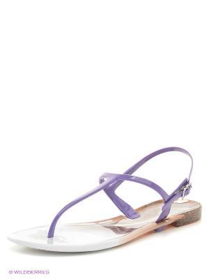 Сандалии Mon Ami. Цвет: белый, фиолетовый