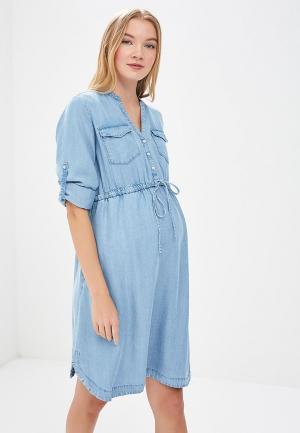 Платье джинсовое Gap Maternity. Цвет: голубой