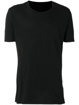 Удлиненная футболка Thom Krom. Цвет: чёрный