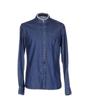 Джинсовая рубашка AUTHENTIC ORIGINAL VINTAGE STYLE. Цвет: синий