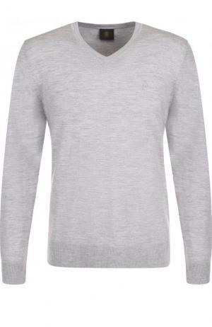 Пуловер из шерсти тонкой вязки Bogner. Цвет: серый