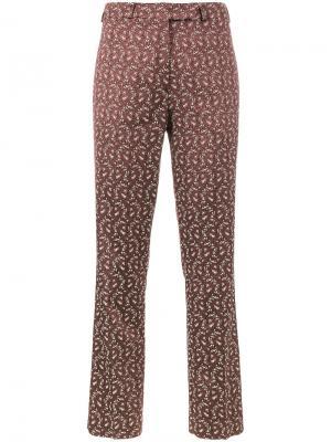 Классические жаккардовые брюки Etro. Цвет: розовый и фиолетовый