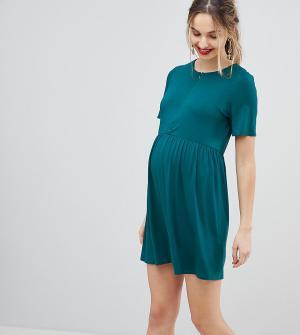 ASOS Maternity Свободное платье с молнией DESIGN. Цвет: мульти
