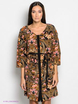 Платье SELECTED. Цвет: черный, оранжевый, розовый