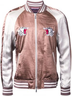 Куртка-бомбер с контрастными рукавами Guild Prime. Цвет: чёрный