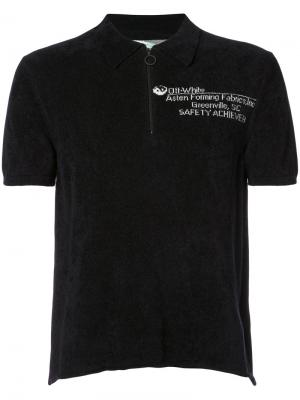 Рубашка-поло с молнией спереди Off-White. Цвет: чёрный