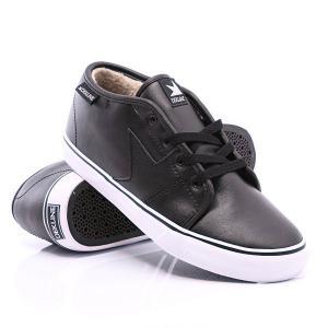 Кеды кроссовки утепленные  Harper Fur Black Action Leather Dekline. Цвет: черный