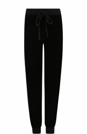 Бархатные джоггеры с карманами Clu. Цвет: черный