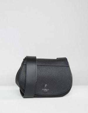 Fiorelli Седловидная сумка с пряжкой Georgia. Цвет: черный