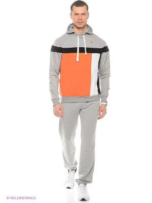 Спортивный костюм RED-N-ROCK'S. Цвет: серый меланж, светло-оранжевый, черный