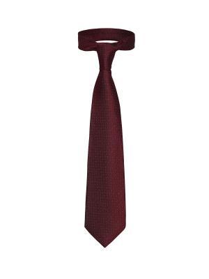 Классический галстук Гость из Манхеттена с модным узором Signature A.P.. Цвет: бордовый