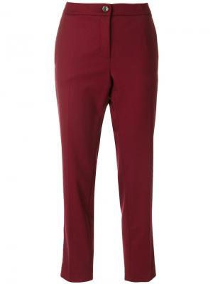 Укороченные зауженные брюки Erika Cavallini. Цвет: розовый и фиолетовый