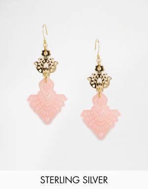 Finchittida Розовые серьги Bodhi. Цвет: розовый