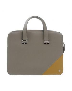 Деловые сумки DUNHILL. Цвет: серый