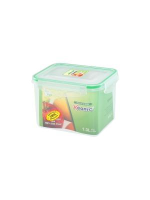 Контейнер герметичный 1,3 л XEONIC CO LTD. Цвет: прозрачный, зеленый