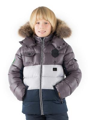 Куртка Pulka. Цвет: серо-коричневый