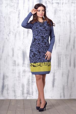 Приталенное платье с длинным рукавом VAY. Цвет: светло-джинсовый, оливковый
