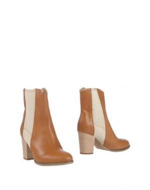 Полусапоги и высокие ботинки FABBRICA MORICHETTI. Цвет: желто-коричневый