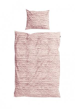 Комплект постельного белья 1,5-спальный Snurk. Цвет: розовый