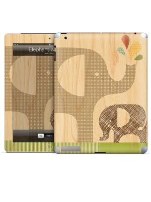 Виниловая наклейка для iPad Elephant with Calf-Petit Collage. Gelaskins. Цвет: бежевый