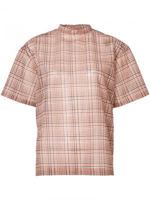 Клетчатая блузка Toga. Цвет: жёлтый и оранжевый