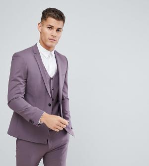 Noak Облегающий пиджак с ровным краем. Цвет: фиолетовый