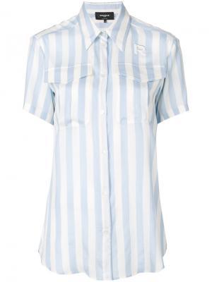 Рубашка с короткими рукавами в полоску Rochas. Цвет: синий
