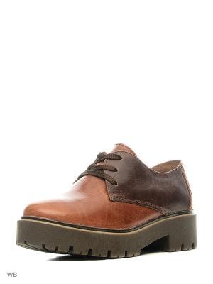 Туфли Walrus. Цвет: коричневый, рыжий
