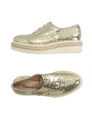 Обувь на шнурках EMANUELA PASSERI. Цвет: платиновый