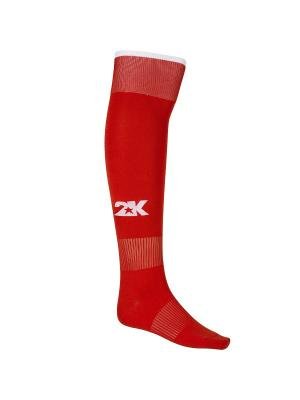 Гетры футбольные Classic 2K. Цвет: красный, белый