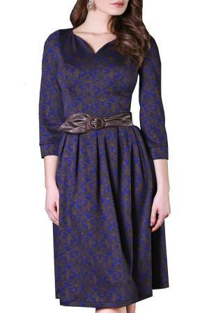 Платье Grey Cat. Цвет: васильково-коричневый