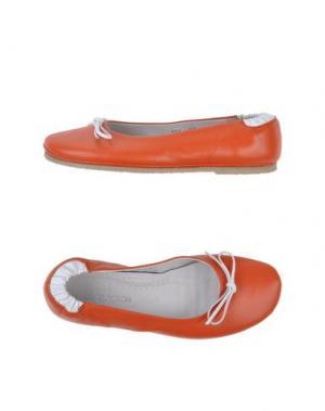 Балетки J.J.DELACROIX. Цвет: оранжевый