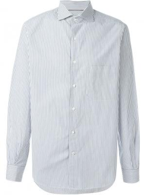 Рубашка в полоску Loro Piana. Цвет: синий