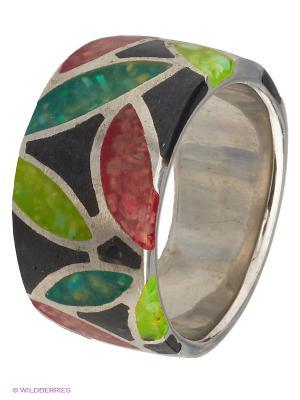 Кольцо Мастер Клио. Цвет: серебристый, зеленый, красный, черный