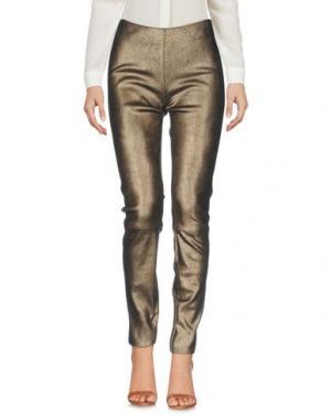 Повседневные брюки JITROIS. Цвет: темно-коричневый