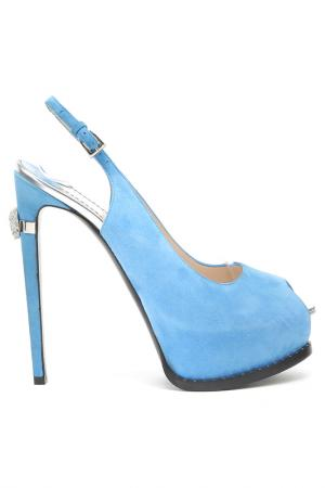 Босоножки Twice. Цвет: голубой