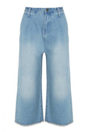 Широкие джинсы MO&Co. Цвет: голубой
