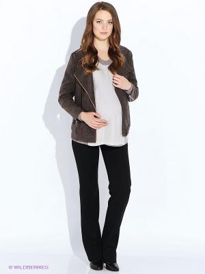 Куртка MammySize. Цвет: коричневый