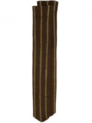 Полосатые носки Uma Wang. Цвет: зелёный