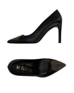 Туфли KALLISTÈ. Цвет: черный